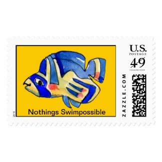 Nothings Swimpossible Butterfly Fish Postage Stamp