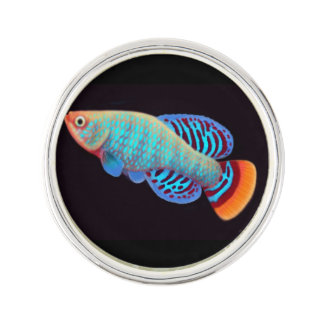 Nothobranchius Rachovii Killifish Lapel Pin