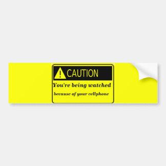 Notice beware_ car bumper sticker
