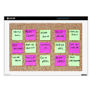 Notice Board Of Merry Christmas Written In Twelve Decal For Laptop