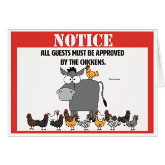 Notice! Card