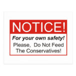 Notice / Conservatives Postcard