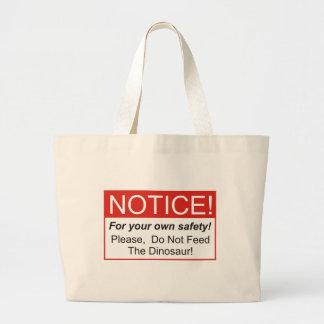 Notice / Dinosaur Tote Bags