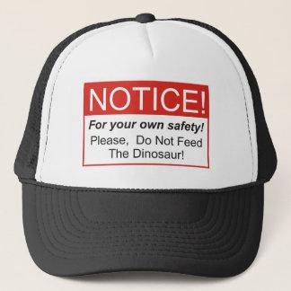 Notice / Dinosaur Trucker Hat