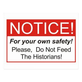 Notice / Historian Postcard