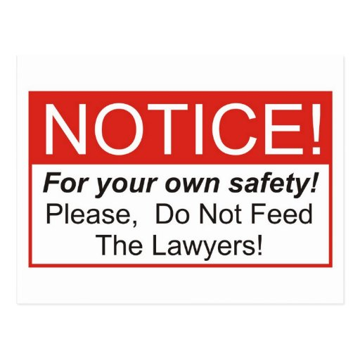 Notice / Lawyer Postcards