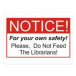 Notice / Librarian Postcard