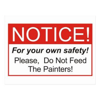 Notice / Painter Postcard