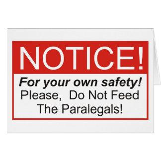 Notice / Paralegals Card
