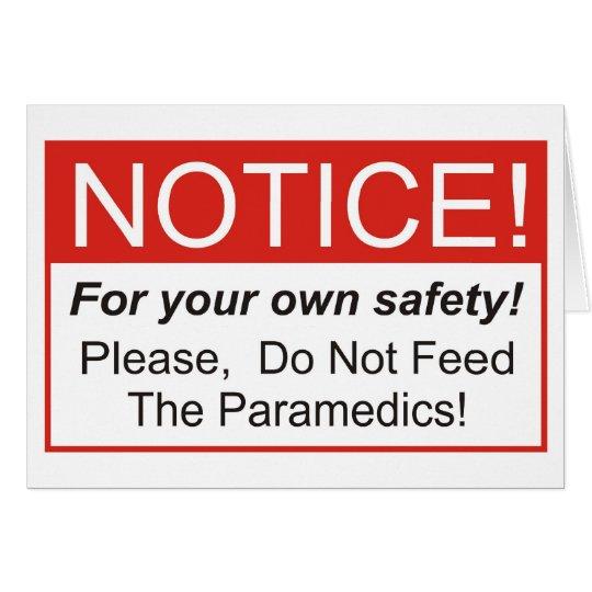 Notice / Paramedic Card