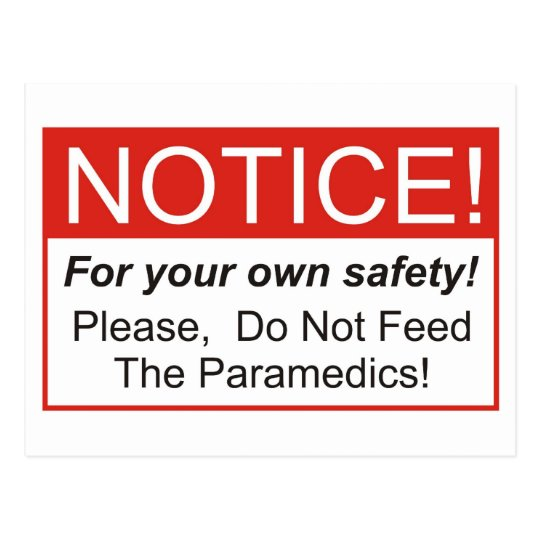 Notice / Paramedic Postcard