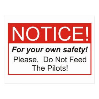 Notice / Pilot Postcard