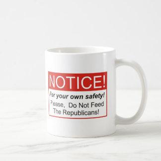 Notice / Republicans Coffee Mug