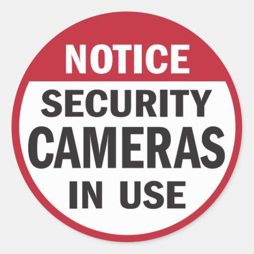 Notice: Security Cameras in Use sticker Round Sticker