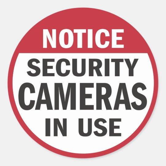 notice security cameras in use sticker zazzlecom