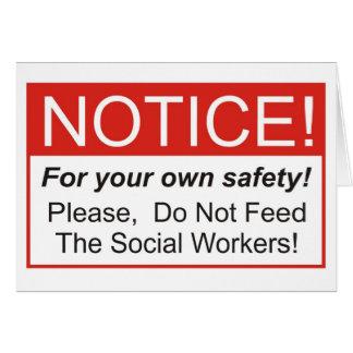 Notice / Social Worker Card