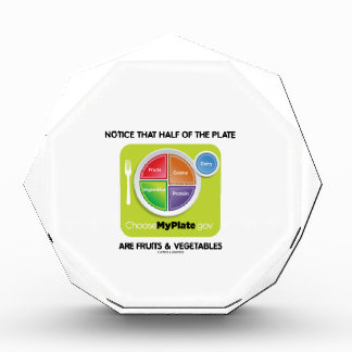 Notice That Half Of Plate Are Fruits & Vegetables Awards