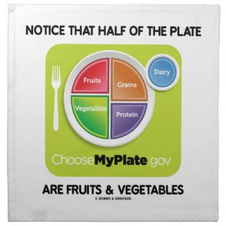 Notice That Half Of Plate Are Fruits & Vegetables Napkin