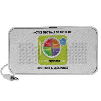 Notice That Half Of Plate Are Fruits & Vegetables Portable Speakers
