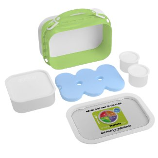 Notice That Half The Plate Are Fruits Vegetables Lunch Box