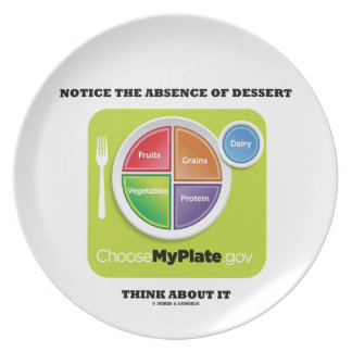 Notice The Absence Of Dessert Think About It Dinner Plate