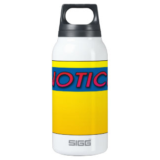 Notice This! 10 Oz Insulated SIGG Thermos Water Bottle
