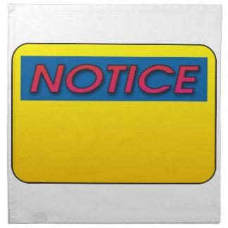 Notice This! Napkin