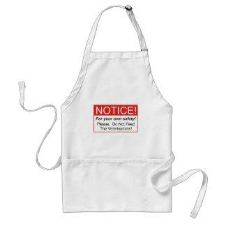 Notice / Veterinarian Adult Apron