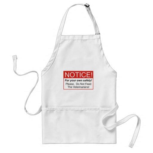 Notice / Veterinarian Aprons