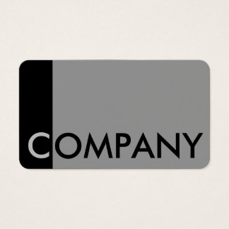 Noticeable silver & black business card