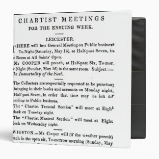 Notices for Chartist Meetings 3 Ring Binder
