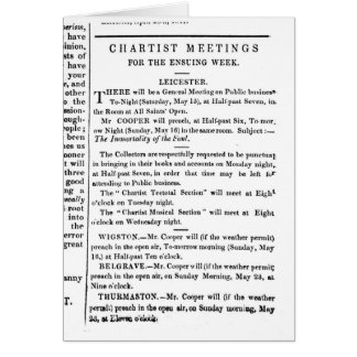 Notices for Chartist Meetings Card