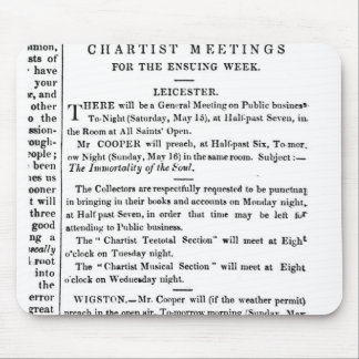 Notices for Chartist Meetings Mouse Pad