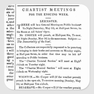 Notices for Chartist Meetings Sticker