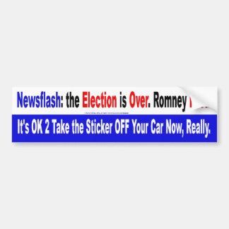 Noticia de última hora Romney perdido Etiqueta De Parachoque
