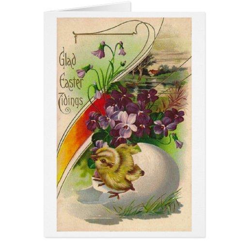¡Noticias alegres de Pascua! Tarjeta de pascua del