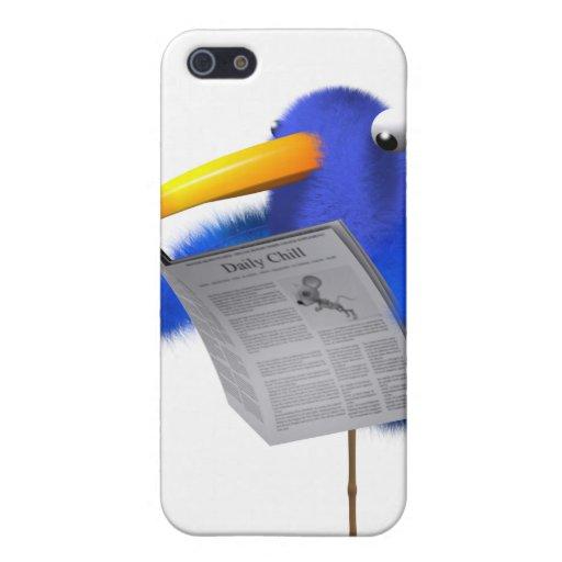 noticias azules del pájaro 3d iPhone 5 carcasas