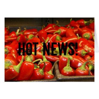 ¡Noticias calientes! Chica, conjetura qué sucedió… Tarjeta Pequeña