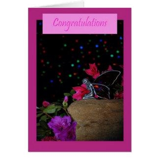 Noticias de hadas rosadas de la enhorabuena grande tarjetas