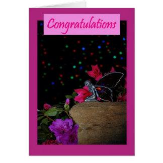 Noticias de hadas rosadas de la enhorabuena grande tarjeta