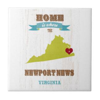 Noticias de Newport mapa de Virginia - casero es Azulejos Ceramicos
