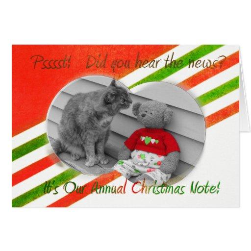 Noticias del navidad tarjeta de felicitación