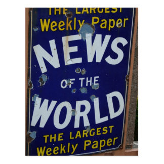 Noticias del poster de la publicidad del vintage postal