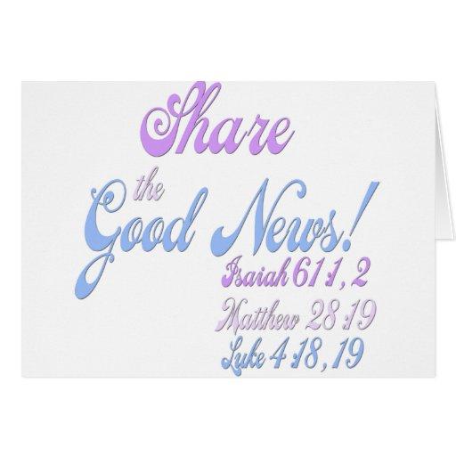 Noticias del testigo de Jehová buenas Tarjeta De Felicitación