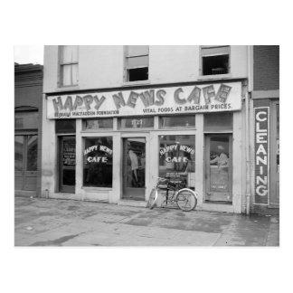 Noticias felices Cafe, 1938 Tarjeta Postal