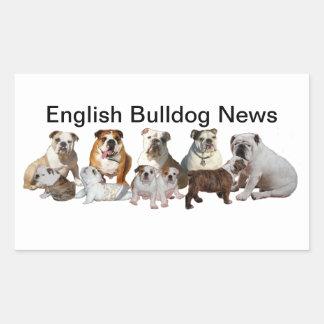 Noticias inglesas del dogo pegatina rectangular