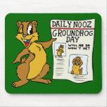"""""""Noticias"""" MousePad del día de la marmota Alfombrilla De Ratones"""
