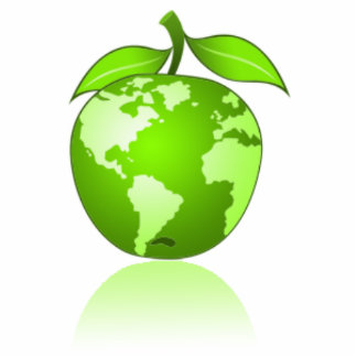 Noticias verdes de Apple Fotoescultura Vertical