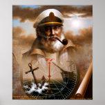 NOTICIAS y capitán del mapa/ancla o capitán de mar Impresiones
