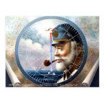 NOTICIAS y capitán del mapa/decoración o capitán d Tarjetas Postales